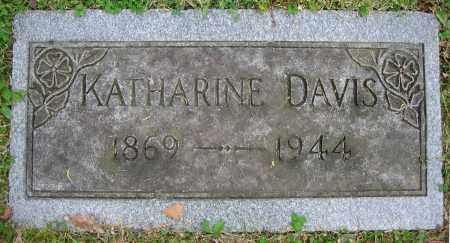 DAVIS, KATHARINE - Clark County, Ohio   KATHARINE DAVIS - Ohio Gravestone Photos