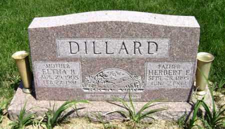DILLARD, ELTHA B. - Clark County, Ohio | ELTHA B. DILLARD - Ohio Gravestone Photos