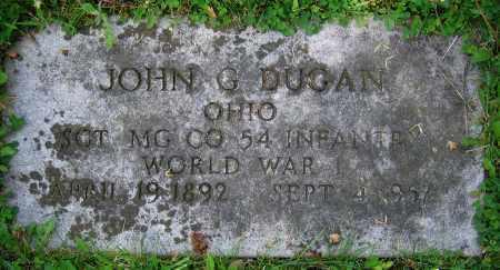 DUGAN, JOHN G. - Clark County, Ohio | JOHN G. DUGAN - Ohio Gravestone Photos