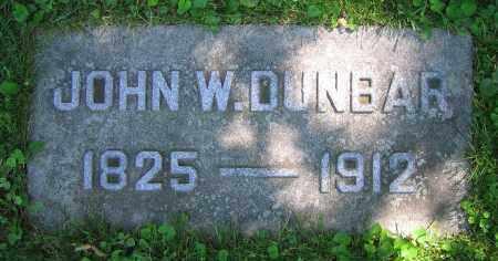 DUNBAR, JOHN W. - Clark County, Ohio | JOHN W. DUNBAR - Ohio Gravestone Photos