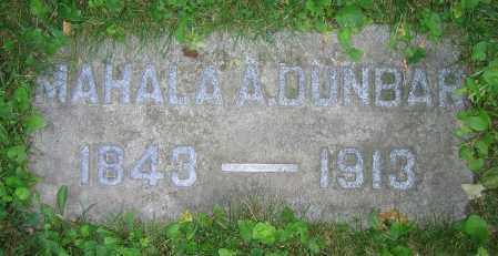DUNBAR, MAHALA A. - Clark County, Ohio   MAHALA A. DUNBAR - Ohio Gravestone Photos