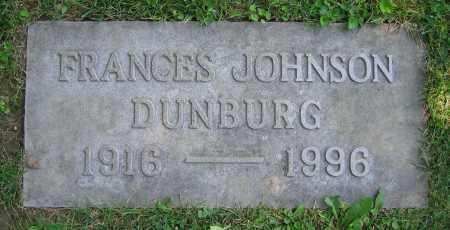 DUNBURG, FRANCES - Clark County, Ohio   FRANCES DUNBURG - Ohio Gravestone Photos