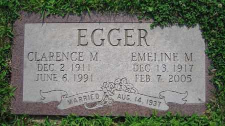 EGGER, CLARENCE M. - Clark County, Ohio | CLARENCE M. EGGER - Ohio Gravestone Photos