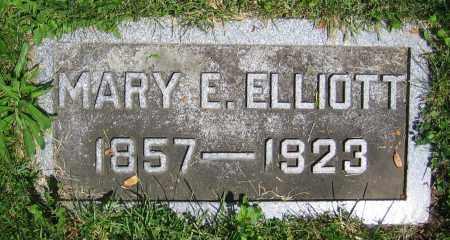 ELLIOTT, MARY E. - Clark County, Ohio | MARY E. ELLIOTT - Ohio Gravestone Photos