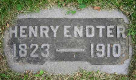 ENDTER, HENRY - Clark County, Ohio | HENRY ENDTER - Ohio Gravestone Photos