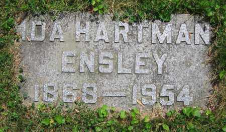 HARTMAN ENSLEY, IDA - Clark County, Ohio | IDA HARTMAN ENSLEY - Ohio Gravestone Photos