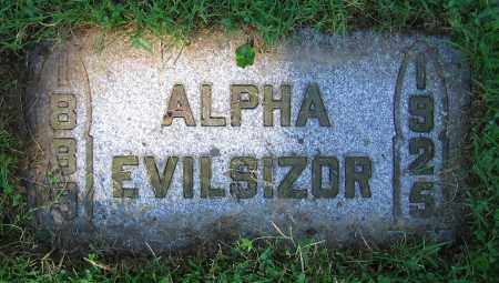 EVILSIZOR, ALPHA - Clark County, Ohio | ALPHA EVILSIZOR - Ohio Gravestone Photos
