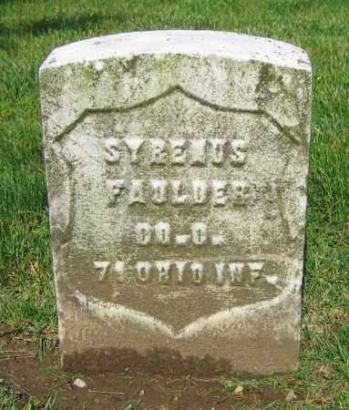 FAULDER, SYRENUS - Clark County, Ohio | SYRENUS FAULDER - Ohio Gravestone Photos