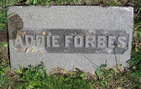 FORBES, ADDIE - Clark County, Ohio | ADDIE FORBES - Ohio Gravestone Photos