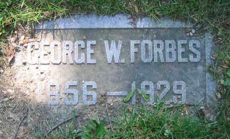 FORBES, GEORGE W. - Clark County, Ohio   GEORGE W. FORBES - Ohio Gravestone Photos