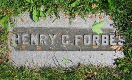 FORBES, HENRY G. - Clark County, Ohio | HENRY G. FORBES - Ohio Gravestone Photos