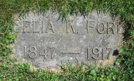 FORD, CELIA K. - Clark County, Ohio | CELIA K. FORD - Ohio Gravestone Photos