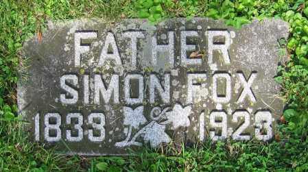 FOX, SIMON - Clark County, Ohio | SIMON FOX - Ohio Gravestone Photos