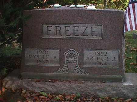 NORRIS FREEZE, MYRTLE ADA - Clark County, Ohio | MYRTLE ADA NORRIS FREEZE - Ohio Gravestone Photos