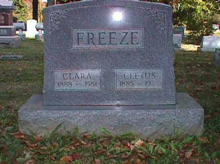 WARNER FREEZE, CLARA LOUISE - Clark County, Ohio   CLARA LOUISE WARNER FREEZE - Ohio Gravestone Photos