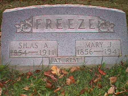 FREEZE, SILAS ABRAHAM - Clark County, Ohio | SILAS ABRAHAM FREEZE - Ohio Gravestone Photos