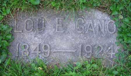 GANO, LOU E. - Clark County, Ohio   LOU E. GANO - Ohio Gravestone Photos