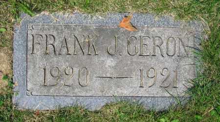 GERON, FRANK J. - Clark County, Ohio | FRANK J. GERON - Ohio Gravestone Photos