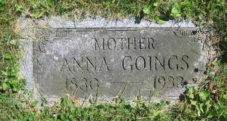 GOINGS, ANNA - Clark County, Ohio | ANNA GOINGS - Ohio Gravestone Photos