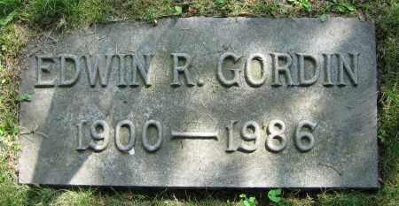 GORDIN, EDWIN R. - Clark County, Ohio   EDWIN R. GORDIN - Ohio Gravestone Photos