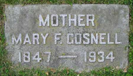 GOSNELL, MARY F. - Clark County, Ohio | MARY F. GOSNELL - Ohio Gravestone Photos