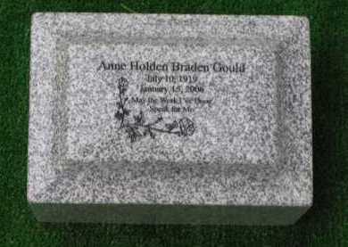GOULD, ANNE - Clark County, Ohio | ANNE GOULD - Ohio Gravestone Photos