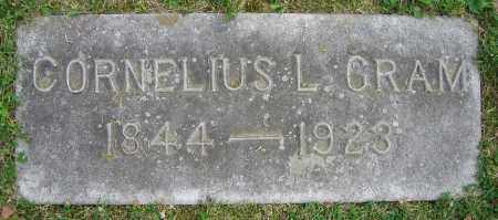 GRAM, CORNELIUS L. - Clark County, Ohio | CORNELIUS L. GRAM - Ohio Gravestone Photos
