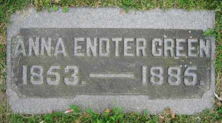 ENDTER GREEN, ANNA - Clark County, Ohio | ANNA ENDTER GREEN - Ohio Gravestone Photos