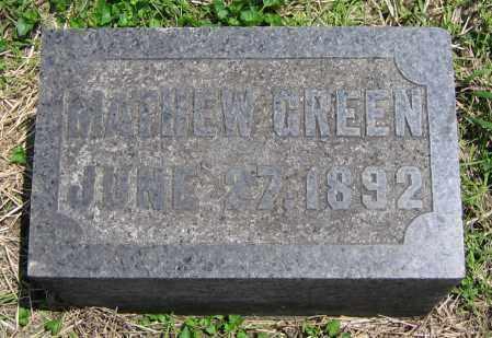 GREEN, MATHEW - Clark County, Ohio   MATHEW GREEN - Ohio Gravestone Photos