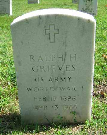 GRIEVES, RALPH H. - Clark County, Ohio | RALPH H. GRIEVES - Ohio Gravestone Photos