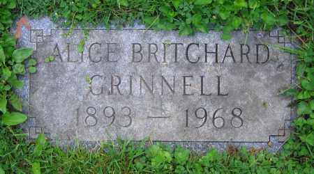 BRITCHARD GRINNELL, ALICE - Clark County, Ohio | ALICE BRITCHARD GRINNELL - Ohio Gravestone Photos