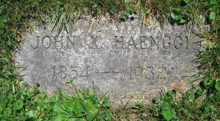 HAENGGI, JOHN X. - Clark County, Ohio   JOHN X. HAENGGI - Ohio Gravestone Photos