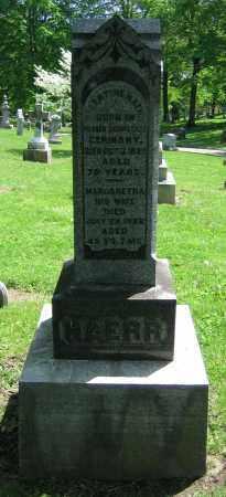 HAERR, VALENTINE - Clark County, Ohio | VALENTINE HAERR - Ohio Gravestone Photos