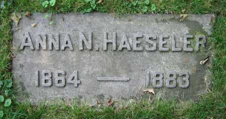 HAESELER, ANNA N. - Clark County, Ohio   ANNA N. HAESELER - Ohio Gravestone Photos