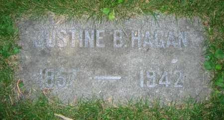 HAGAN, JUSTINE B. - Clark County, Ohio | JUSTINE B. HAGAN - Ohio Gravestone Photos