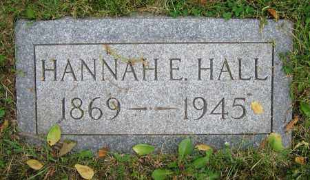 HALL, HANNAH E. - Clark County, Ohio | HANNAH E. HALL - Ohio Gravestone Photos