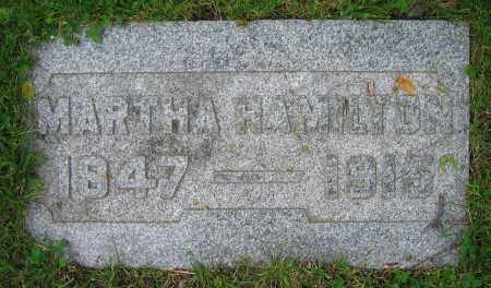 HAMILTON, MARTHA - Clark County, Ohio | MARTHA HAMILTON - Ohio Gravestone Photos