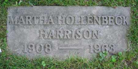 HOLLENBECK HARRISON, MARTHA - Clark County, Ohio | MARTHA HOLLENBECK HARRISON - Ohio Gravestone Photos