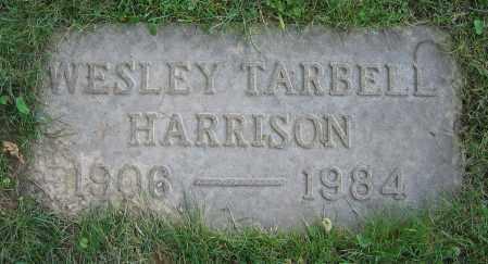 HARRISON, WESLEY TARBELL - Clark County, Ohio | WESLEY TARBELL HARRISON - Ohio Gravestone Photos