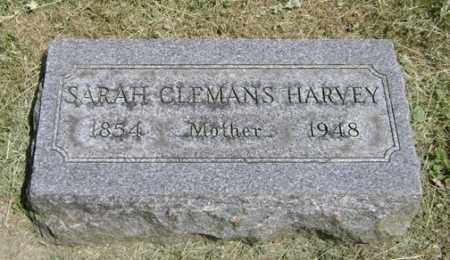 CLEMANS HARVEY, SARAH - Clark County, Ohio | SARAH CLEMANS HARVEY - Ohio Gravestone Photos