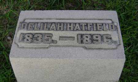HATFIELD, DELILAH - Clark County, Ohio   DELILAH HATFIELD - Ohio Gravestone Photos