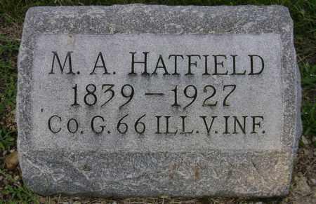 A HATFIELD, M. - Clark County, Ohio | M. A HATFIELD - Ohio Gravestone Photos