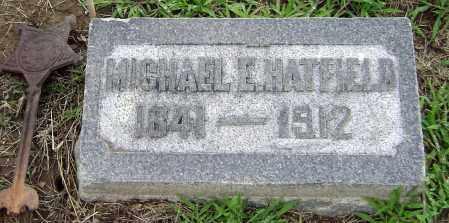 E HATFIELD, MICHAEL - Clark County, Ohio | MICHAEL E HATFIELD - Ohio Gravestone Photos