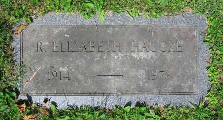 HAUCKE, R. ELIZABETH - Clark County, Ohio | R. ELIZABETH HAUCKE - Ohio Gravestone Photos