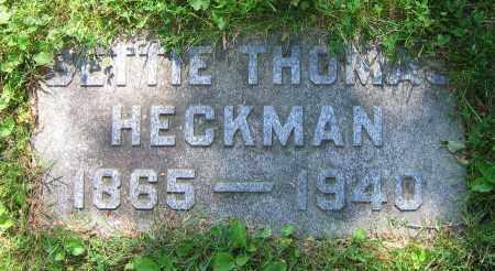 THOMAS HECKMAN, BETTIE - Clark County, Ohio   BETTIE THOMAS HECKMAN - Ohio Gravestone Photos