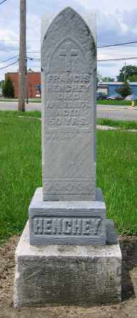 HENCHEY, FRANCIS - Clark County, Ohio | FRANCIS HENCHEY - Ohio Gravestone Photos