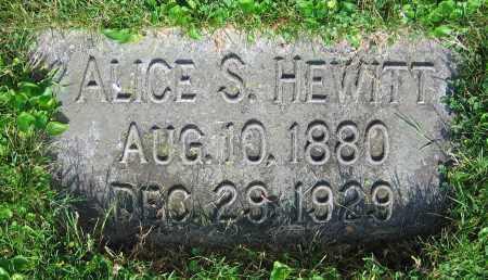 HEWITT, ALICE S. - Clark County, Ohio   ALICE S. HEWITT - Ohio Gravestone Photos