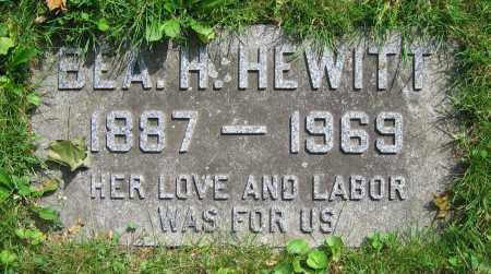 HEWITT, BEA H. - Clark County, Ohio   BEA H. HEWITT - Ohio Gravestone Photos