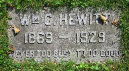 HEWITT, WM. C. - Clark County, Ohio   WM. C. HEWITT - Ohio Gravestone Photos