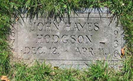 HODGSON, JOHN HAYES - Clark County, Ohio   JOHN HAYES HODGSON - Ohio Gravestone Photos